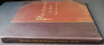 Image for Record of Fire Insurance By States From 1900 to 1938.