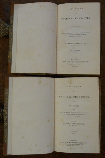 Image for An Essay Upon National Character.  Two Volumes