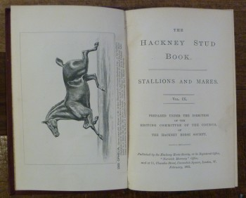 Image for The Hackney Stud Book.  Stallions and Mares Vol. IX.