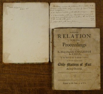 Image for An Impartial Relation of the Whole Proceedings Against St. Mary Magdalen Colledge in Oxon in 1687 Containing Only Matters of Fact