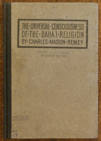 Image for Universal Consciousness of the Baha'i Religion