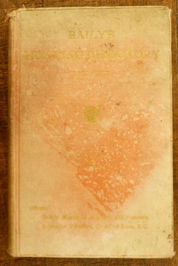 Image for Baily's Hunting Directory 1922-1923 with Diary and Hunt Maps