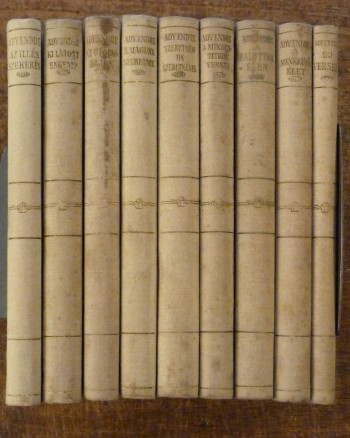 Image for Ady Uj Versek Collection of 9 Vols of Poetry