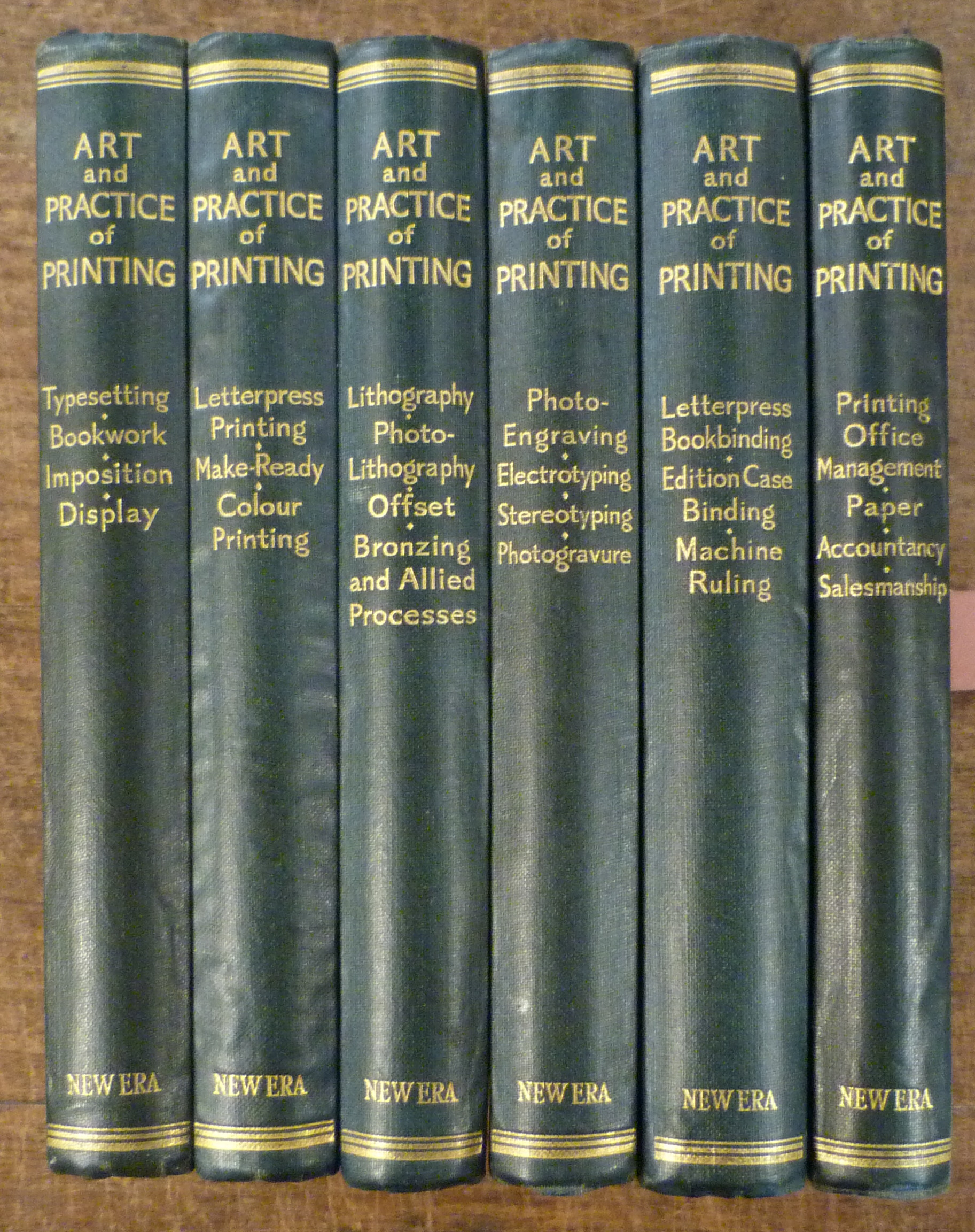 Image for The Art and Practice of Printing - a Work in Six Volumes - Dealing with the Composing Department, Mechanical Composition, Letterpress Printing in all . Printing, Direct and Offset, and Photo Litho, Etc. 6 Volumes Complete I[The Composing Department] II [L