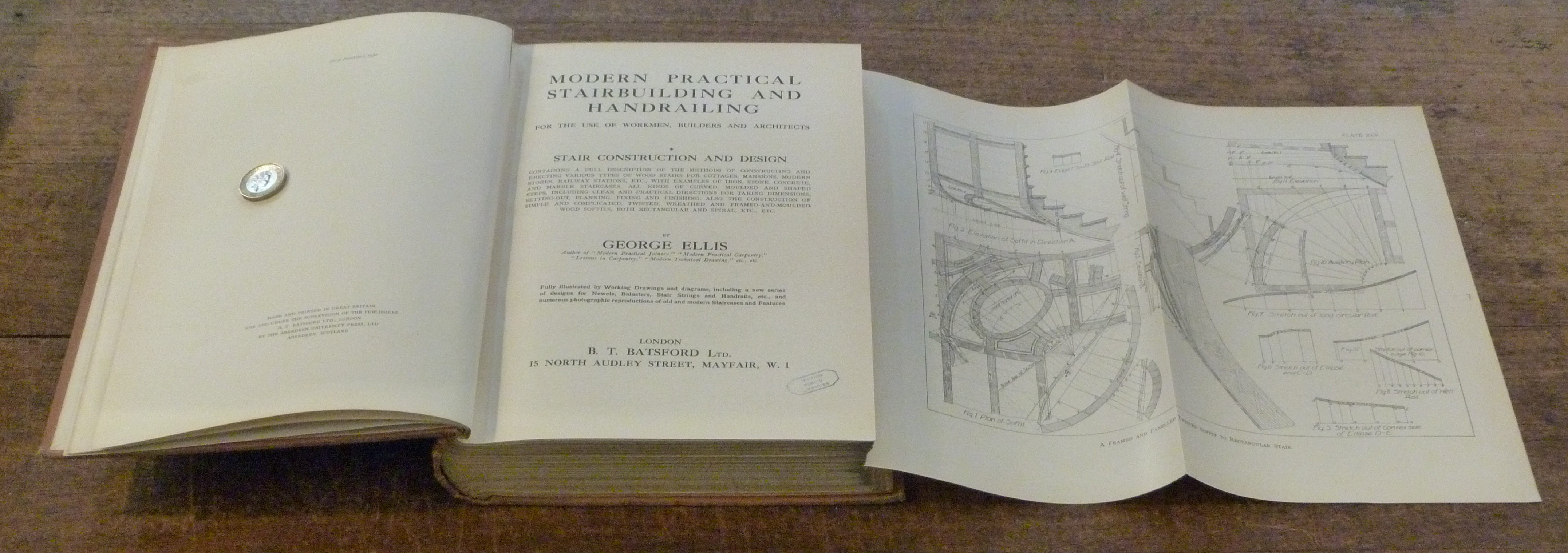 Image for Modern Practical Stairbuilding and Handrailing   for the Use of Workmen,  Builders and Architects (2 Vols in one)  I. Stair Construction and Design, II. Handrailing and Wreath Making TWO VOLS IN ONE .