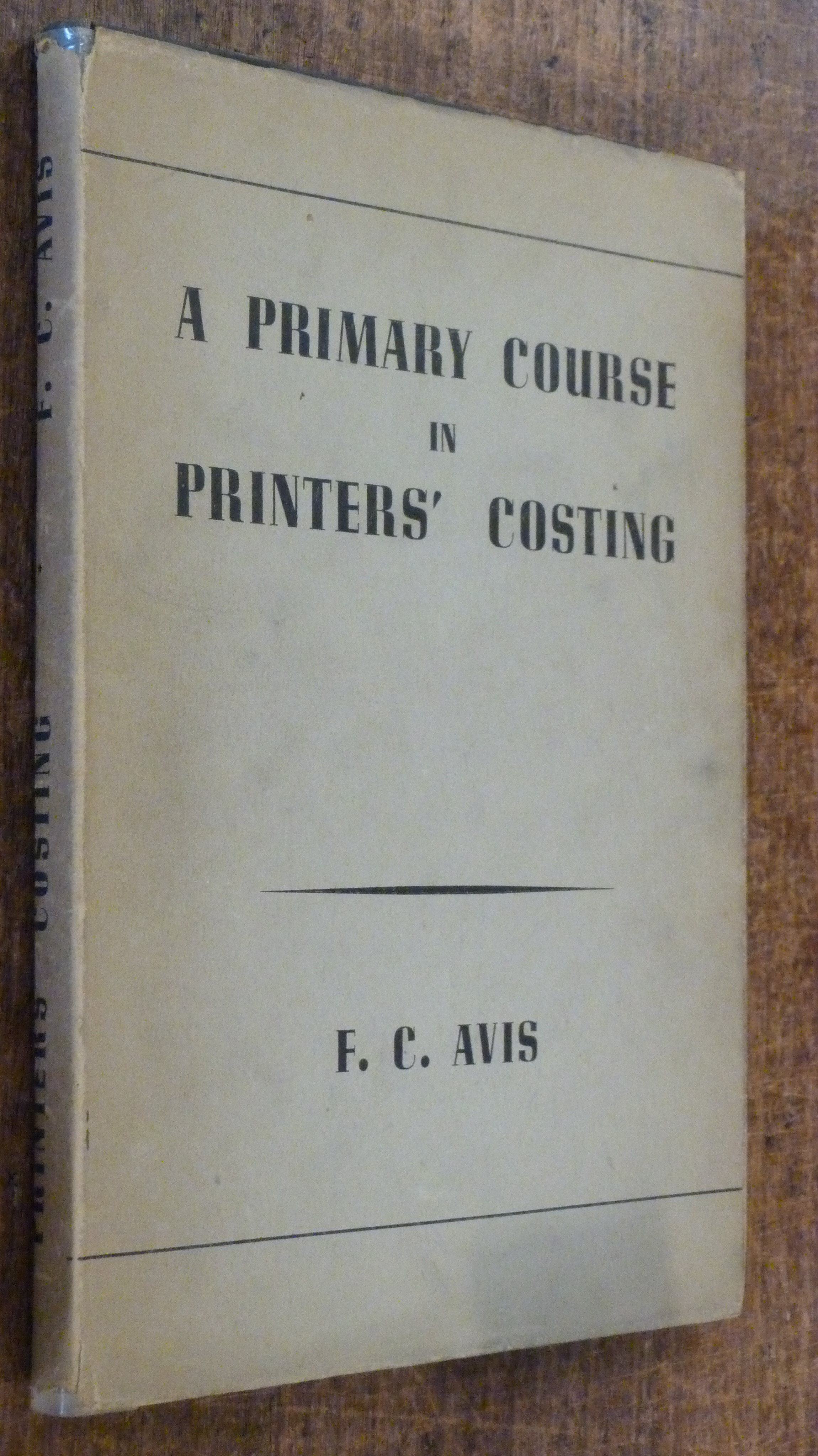 Image for A Primary Course in Printers' Costing